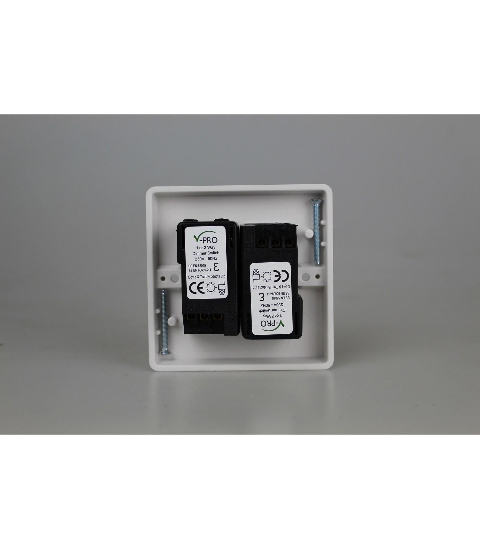 2 Gang Way Push On Off Rotary Led Dimmer X 0 120w 1 10 Switch For