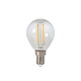 Calex LED Full Glass Filament Ball-lamp 240V 2,0W 200lm E14 P45, Clear 2700K CRI80