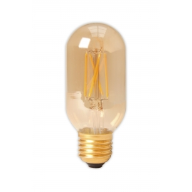 Calex LED Full Glass Filament Tubular-Type lamp 240V 4W 320lm E27 T45x110, Gold 2100K Dimmable