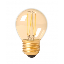 Calex LED Full Glass Filament Ball-lamp 240V 3,5W 200lm E27 P45, Gold 2100K CRI80 Dimmable