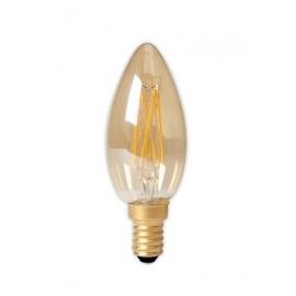 Calex LED Full Glass Filament Candle-lamp 240V 3,5W 200lm E14 B35, Gold 2100K CRI80 Dimmable