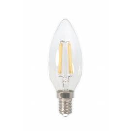 Calex LED Full Glass Filament Candle-lamp 240V 3,5W 350lm E14 B35, Clear 2700K CRI80 Dimmable