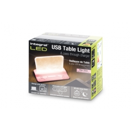 USB Table Light and pass-through charger (Pink)