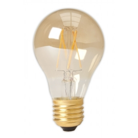 Calex LED Full Glass Filament GLS-lamp 240V 4W 310lm E27 A60, Gold 2100K CRI80 Dimmable