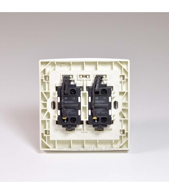 2 GANG 1 WAY SWITCH WITH LED, 10AX, ABB