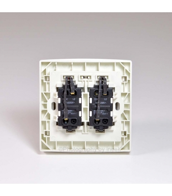 2 GANG 2 WAY SWITCH WITH LED, 10AX, ABB