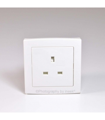 BS SOCKET OUTLET, 13A, ABB