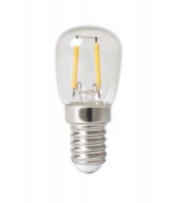 Calex LED Full Glass Filament Pilot lamp 240V 1W 100lm E14 T26x58, Clear 2700K CRI80