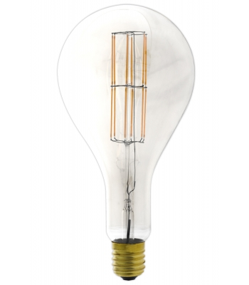 Giant LED Full Glass Long Filament Splash 240V 11W E40 PS160, Clear 2300K Dimmable