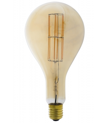 Giant LED Full Glass Long Filament Splash 240V 11W E40 PS160, Gold 2100K Dimmable