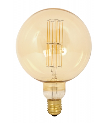 Giant LED Full Glass Long Filament Mega Globe 240V 11W E40 G200, Gold 2100K Dimmable