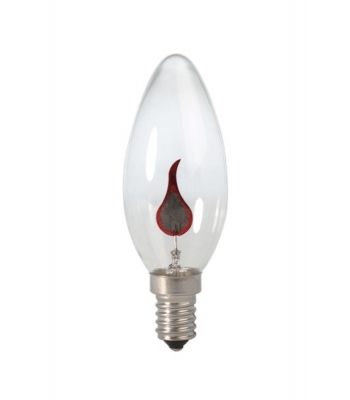 Calex Tip Candle lamp 240V 3W E14 flicker flame 35x100