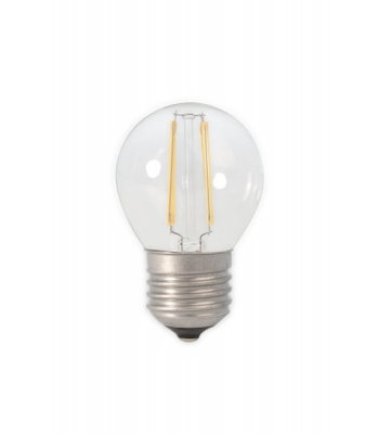 Calex LED Full Glass Filament Ball-lamp 240V 3,5W 350lm E27 P45, Clear 2700K CRI80 Dimmable