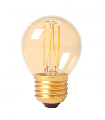 Calex LED Full Glass Filament Ball-lamp 240V 3,5W 200lm E27 P45, Gold 2100K CRI80 Dimmable