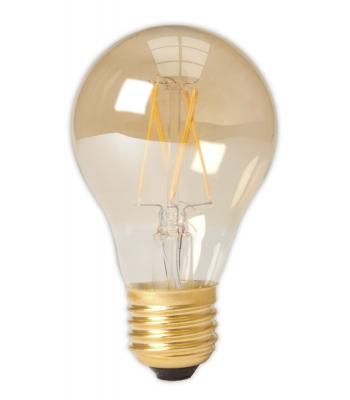 Calex LED Full Glass Filament GLS-lamp 240V 4W 310lm E27 A60, Gold 2100K CRI80 Dimmable