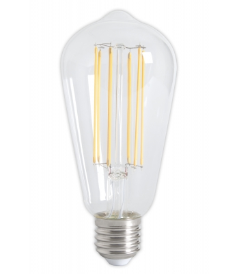 Calex LED Full Glass LongFilament Rustik Lamp 240V 4W 350lm E27 ST64, Clear 2300K Dimmable
