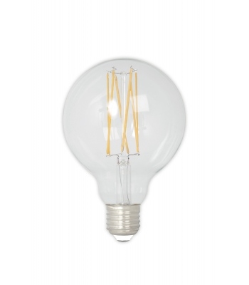 Calex LED Full Glass LongFilament Globe Lamp 240V 4W 350lm E27 GLB95, Clear 2300K Dimmable