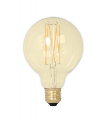 Calex LED volglas LangFilament Globelamp 240V 4W 320lm E27 GLB95, Goud 2100K Dimbaar