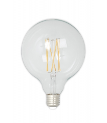 Calex LED Full Glass LongFilament Globe Lamp 240V 4W 350lm E27 GLB125, Clear 2300K Dimmable