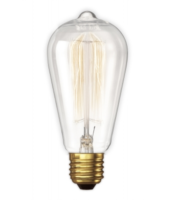 Calex LL Rustiek lamp 240V 40W B22 clear 64x135mm, 3000 hour