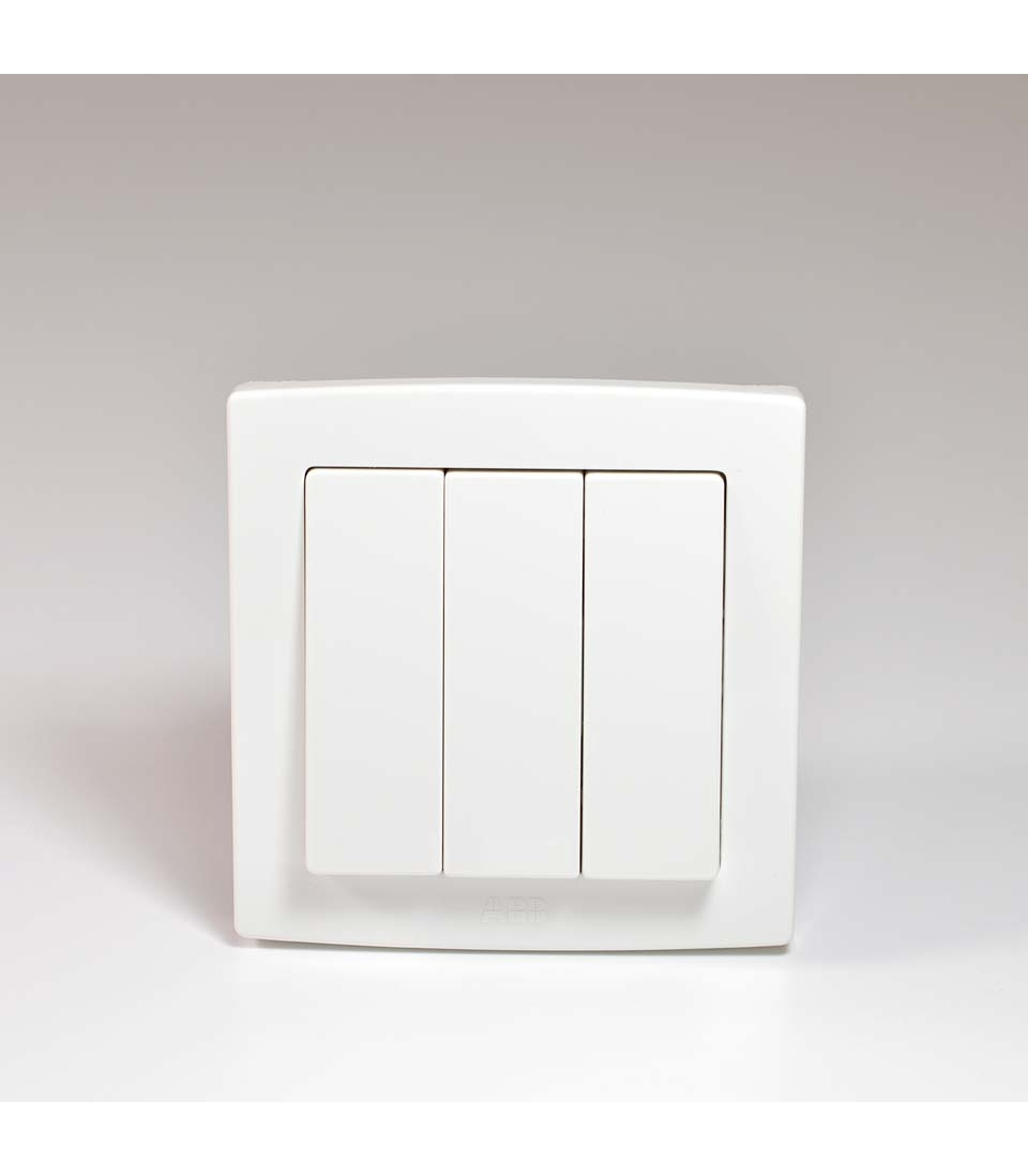 3 Gang 2 Way Light Switch Abb And Switches