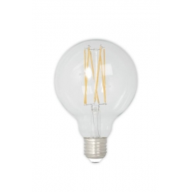 Calex LED Full Glass LongFilament Globe Lamp 240V 4W 350lm E27 GLB80, Clear 2300K Dimmable