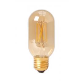 Calex LED Full Glass Filament Tubular-Type lamp 240V 4W 320lm E27 T45x110, Gold 2100K Dimmable