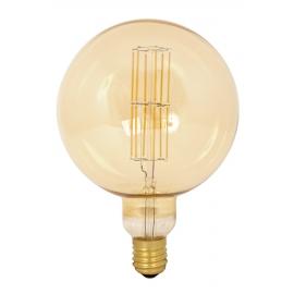 Giant LED Full Glass Long Filament Mega Globe 240V 11W E40 G200, Gold 2100K Dimmable
