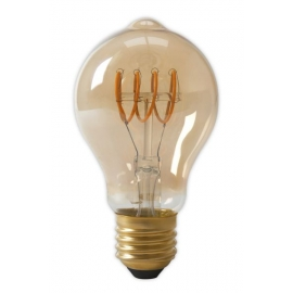 Calex LED Full Glass Flex Filament GLS-lamp 240V 4W 200lm E27 A60DR, Gold 2100K Dimmable