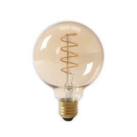 Calex LED Full Glass Flex Filament Globe Lamp 240V 4W 200lm E27 G125, Gold 2100K Dimmable
