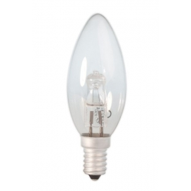 Calex Energy Saving Halogen Candle Lamp 230V 18W(25W) E14 B35 clear