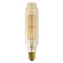 Giant LED Full Glass Long Filament Tower 240V 11W E40 TT75, Gold 2100K Dimmable