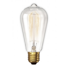 Calex LL Rustiek lamp 240V 40W B22 clear 64x135mm, 3000 hour