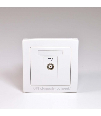 1 GANG TV OUTLET, LOOP-THROUGH, ISOLATE, ABB