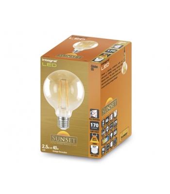 G95 Sunset Filament Globe Lamp 2.5W (19W) 1800K 170lm E27 Non-Dimmable 300 deg Beam Angle