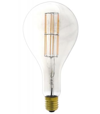Giant LED Full Glass Long Filament Splash 240V 11W E40 PS160, Clear 2300K Dimmable