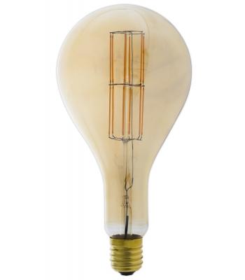 Giant LED Full Glass Long Filament Splash 240V 11W E40 PS160, Gold 2100K Dimmable