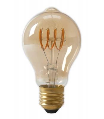 Calex LED Full Glass Flex Filament GLS-lamp 240V 4W 200lm E27 A60DR, Gold 2100K Dimmable