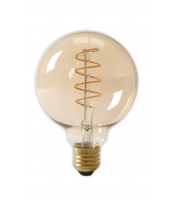 Calex LED Full Glass Flex Filament Globe Lamp 240V 4W 200lm E27 G125, Gold 2100K Dimmable