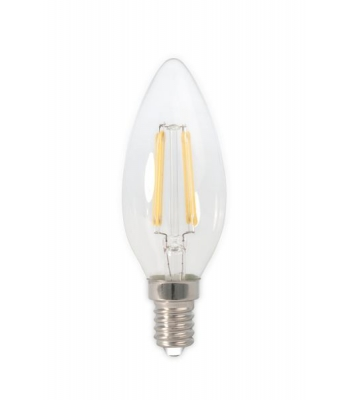 Calex LED Full Glass Filament Candle-lamp 240V 3,5W 350lm E14 B35, Clear 2700K CRI80 Dimmable