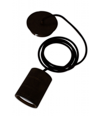 Retro pendant, black fittings E40 (2 mtr black wire)