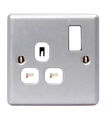 13A Switched Socket outlet, 1 Gang Metal Clad