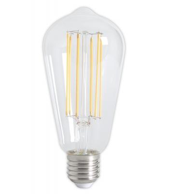 Calex LED Full Glass LongFilament Rustik Lamp 240V 4W 350lm E27 ST64, Clear 2300K Dimmable
