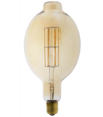Giant LED Full Glass Long Filament Colosseum 240V 11W E40 BT180, Gold 2100K Dimmable